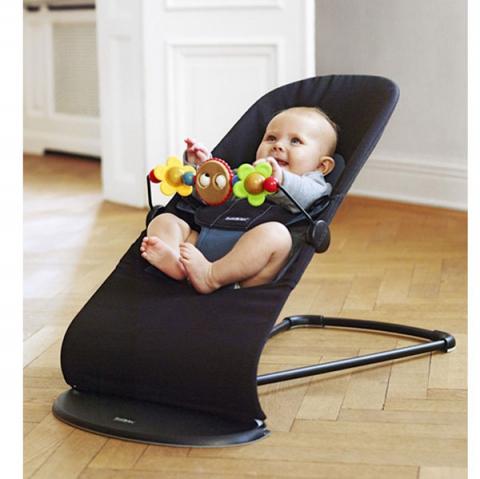 Кресло-шезлонг Babybjorn Balance, черный полоску напрокат