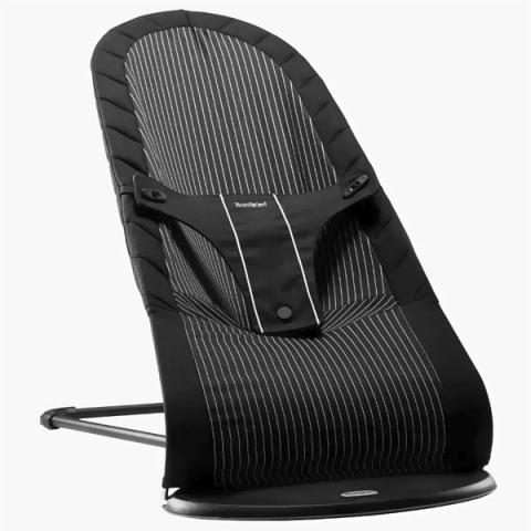 Кресло-шезлонг Babybjorn Balance, черный полоску прокат