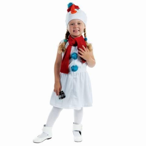 """Карнавальный костюм """"Снеговик с красной заплаткой"""" прокат"""