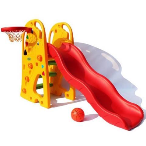 Горка Жираф с баскетбольным кольцом прокат